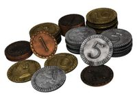 Board Game Accessory: Clans of Caledonia: 70 Piece Coin Set