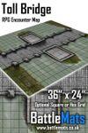 "RPG Item: Toll Bridge 36"" x 24"" RPG Encounter Map"