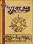 RPG Item: Pathfinder Society Roleplaying Guild Guide