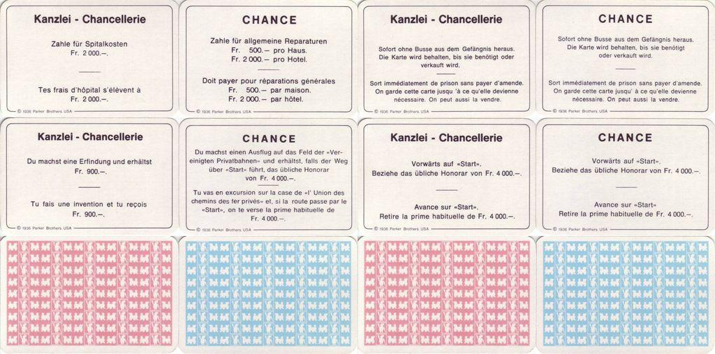 Schweizer Monopoly Ausgaben Von 1939 Ca 1990 Rpggeek