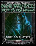 RPG Item: Super Genius Presents: Power Word Spells: Lore of the First Language