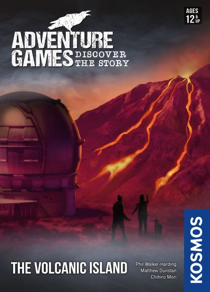 Adventure Games: The Volcanic Island, KOSMOS, 2020 — front cover (image provided by the publisher)