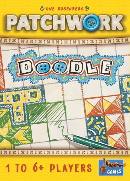 Patchwork Doodle, Lookout Games, 2019 — front cover (image provided by the publisher)