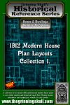 RPG Item: 1912 Modern House Plan Layouts Collection 1