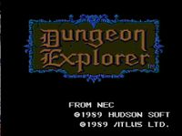 Video Game: Dungeon Explorer