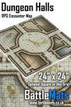 "RPG Item: Dungeon Halls 24"" x 24"" RPG Encounter Map"