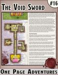 RPG Item: One Page Dungeons #16: The Void Sword