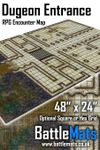 "RPG Item: Dungeon Entrance 48"" x 24"" RPG Encounter Map"