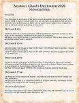 Issue: Azukail Games December 2020 Newsletter