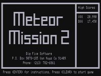 Video Game: Meteor Mission 2