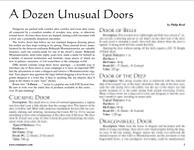 RPG Item: A Dozen Unusual Doors