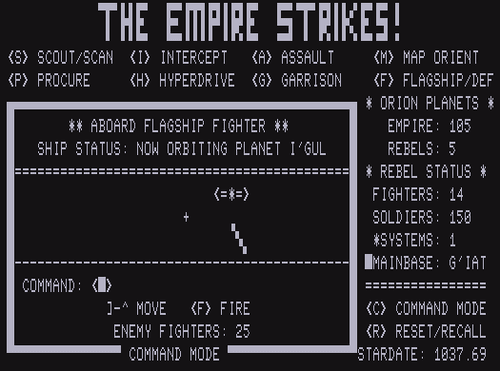 Video Game: The Empire Strikes!