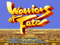 Video Game: Warriors of Fate