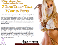 RPG Item: Bullet Points: 7 Time Thief & Time Warden Feats
