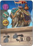 Board Game: Agra: Ambabari Elephant Promo Card