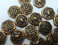 Board Game Accessory: Roam: Metal Frog Coins