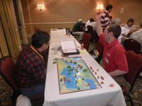 Grant from Columbia Games taking a break at Prezcon