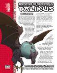 RPG Item: Monsters of NeoExodus: Talikus