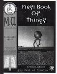 RPG Item: First Book of Things