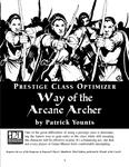 RPG Item: Prestige Class Optimizer: Way of the Arcane Archer