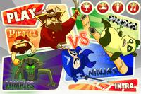 Video Game: Pirates vs. Ninjas vs. Zombies vs. Pandas
