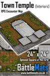RPG Item: Town Temple (Interiors) RPG Encounter Map