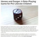 RPG Item: Heroes and Danger: A Role-Playing Game for Pre-Literate Children