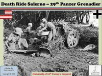 Board Game: Death Ride Salerno: 29th Panzer Grenadier