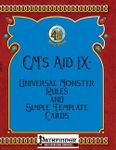 RPG Item: GM's Aid IX: Universal Monster Rules and Simple Template Cards