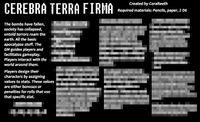 RPG Item: Cerebra Terra Firma