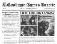 Issue: Goodman Games Gazette (Volume 1, Number 3 - Jul 2015)