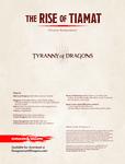 RPG Item: The Rise of Tiamat Online Supplement