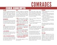 RPG Item: Comrades Reference Sheets