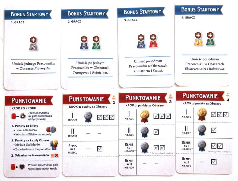 Polish edition initial bonus and scoring cards