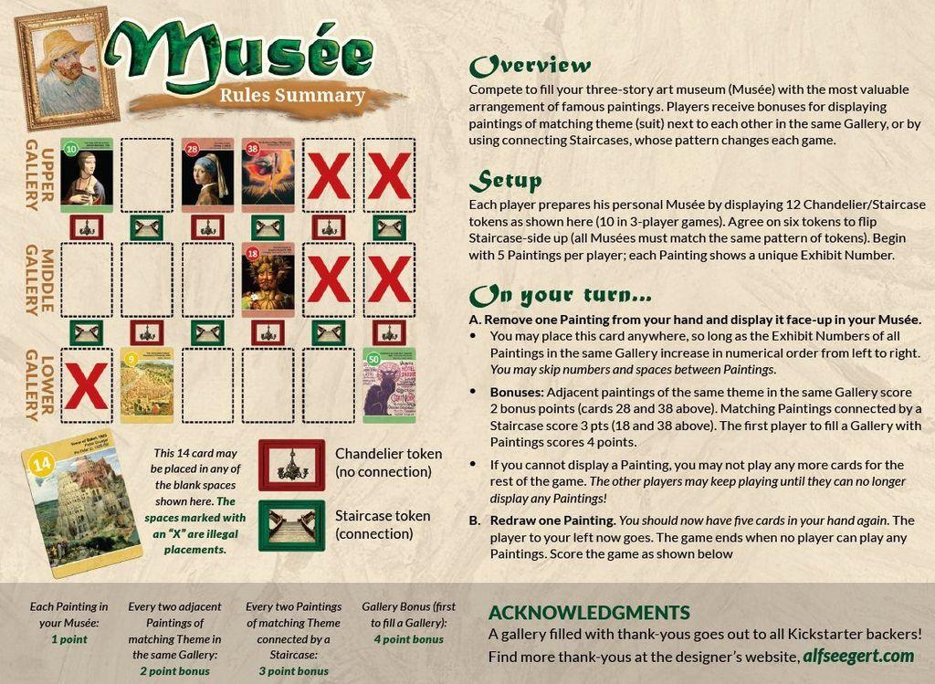 Board Game: Musée