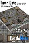 RPG Item: Town Gate (Interiors) RPG Encounter Map