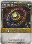 Board Game: Mage Wars: Meditation Amulet Promo Card