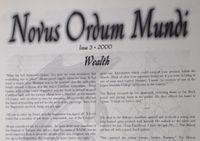 Issue: Novus Ordum Mundi (Issue 3 - 2000)