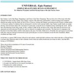 RPG Item: UNIVERSAL: Epic Fantasy