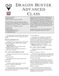 RPG Item: Dragon Hunter Advanced Class