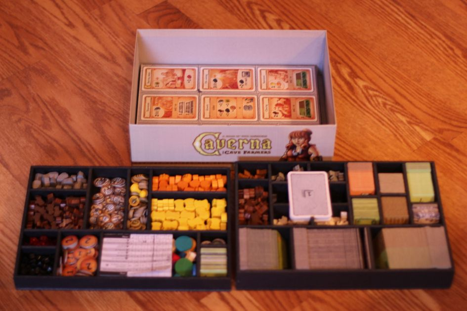 Caverna foamcore organizing trays available foamcore for Board game storage solutions