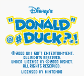 Video Game: Donald Duck: Goin' Quackers (GBC)