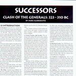 Board Game: Successors: Clash of the Generals 323 - 310 BC