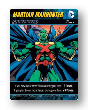 Dc Comics Deck Building Game Martian Manhunter Promo