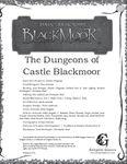 RPG Item: The Dungeons of Castle Blackmoor