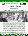 RPG Item: Bardic Lore: The Villa of Mysteries