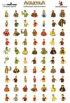 Board Game Accessory: Agricola: Family Member Sticker Sheet