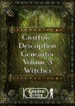RPG Item: Creature Description Generator Volume 03: Witches