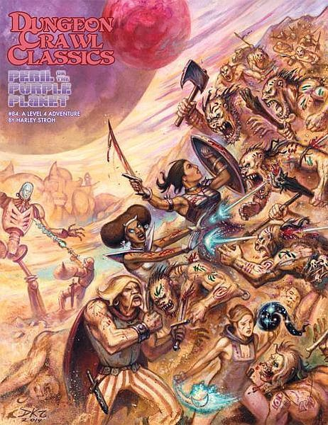 Cover of Dungeon Crawl Classics #84: Peril on the Purple Planet