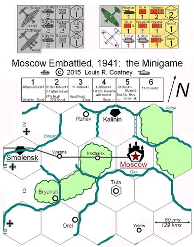 Board Game: Moscow Embattled, 1941: the Minigame